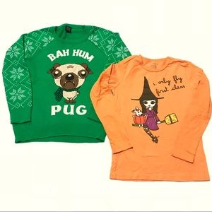Halloween Christmas shirts Old Navy size M 7 / 8